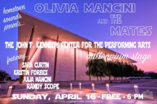 Playing the Kennedy Center with Olivia & The Mates, 4/16!!!