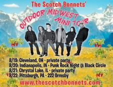 All outdoor, Midwest mini-tour, August 19-22!