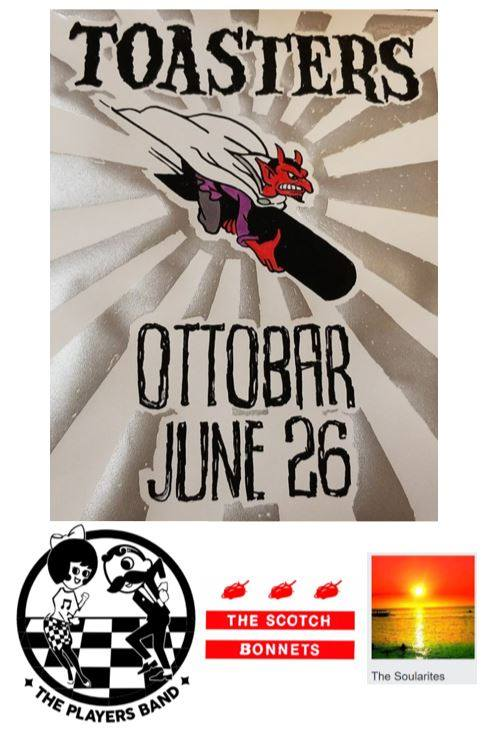 June 26: Bonnets open for The Toasters at Ottobar!!!